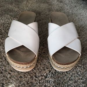 Jessica Simpson Shanny white studded wedge sandal